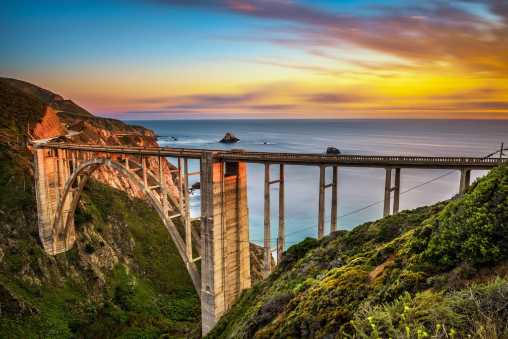 Bixby Creek Bridge in Kalifornien