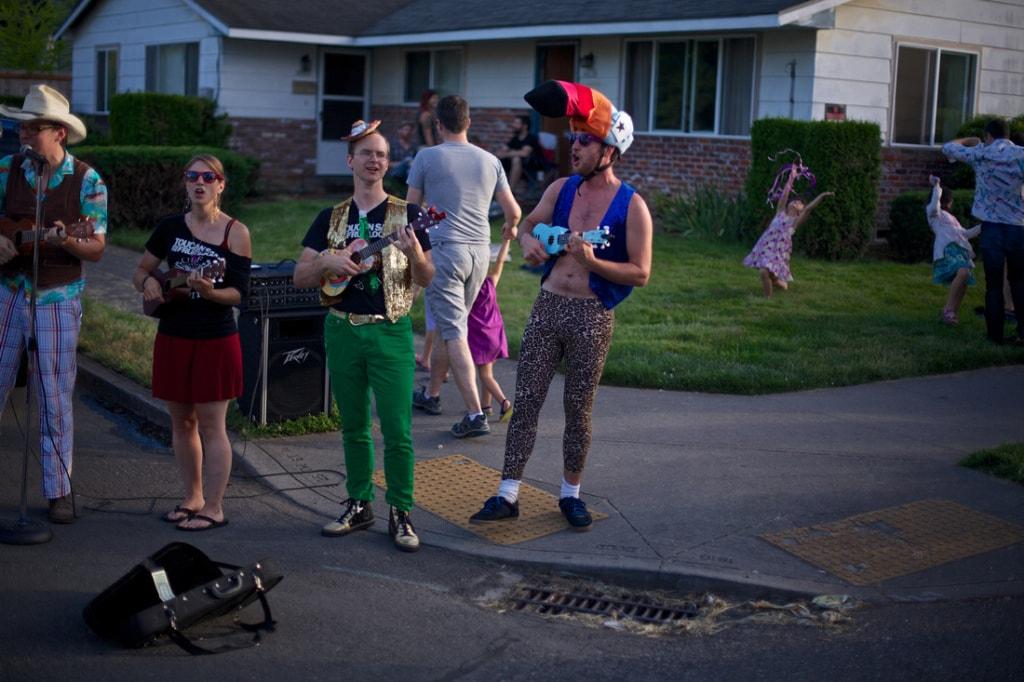Straßenszene in Portland