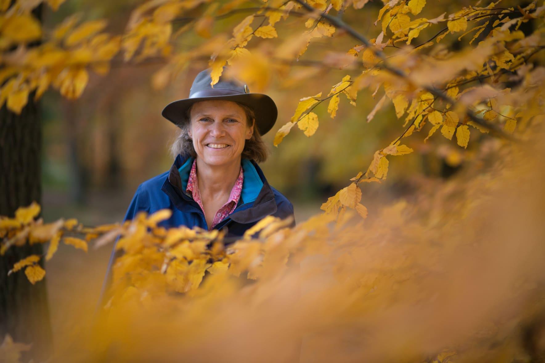 Susanne Weidert-Horn im Naturpark Taunus