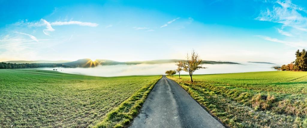 Landschaftsaufnahme des Taunus