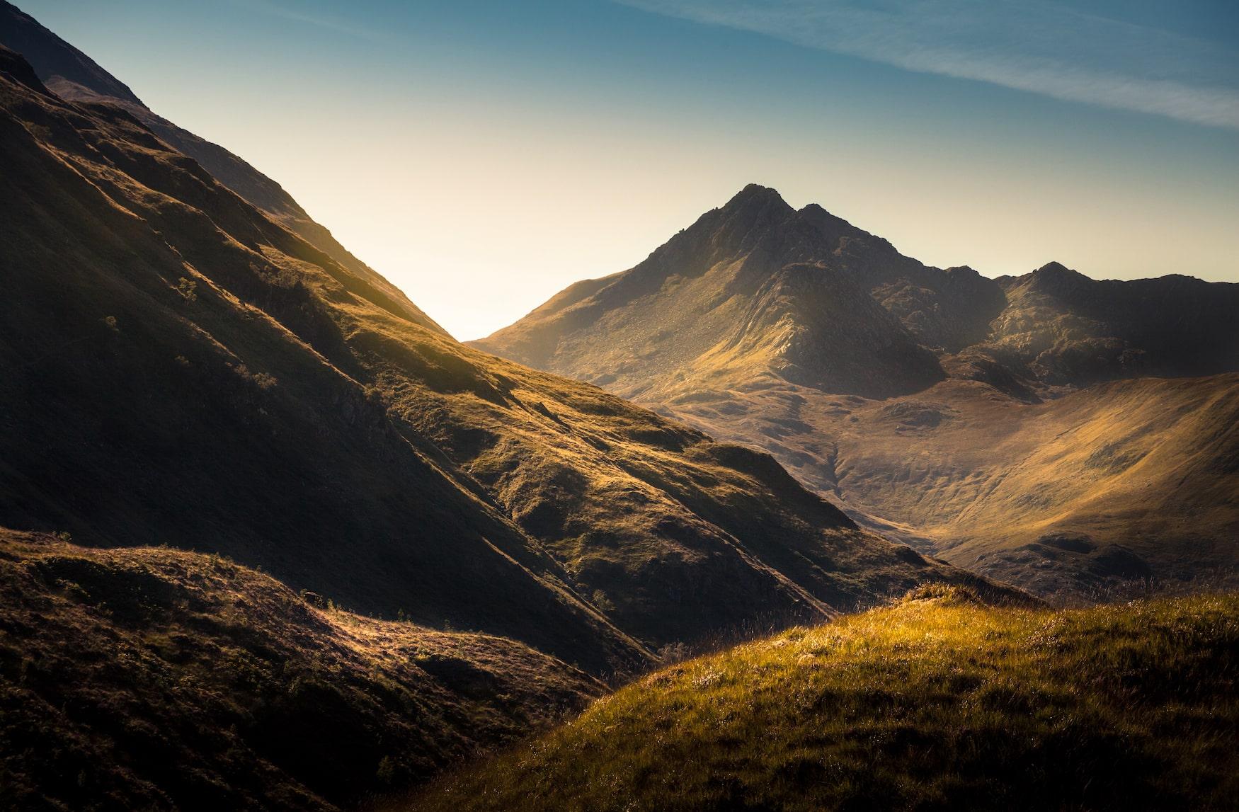 Die Landschaften der Highlands in Schottland