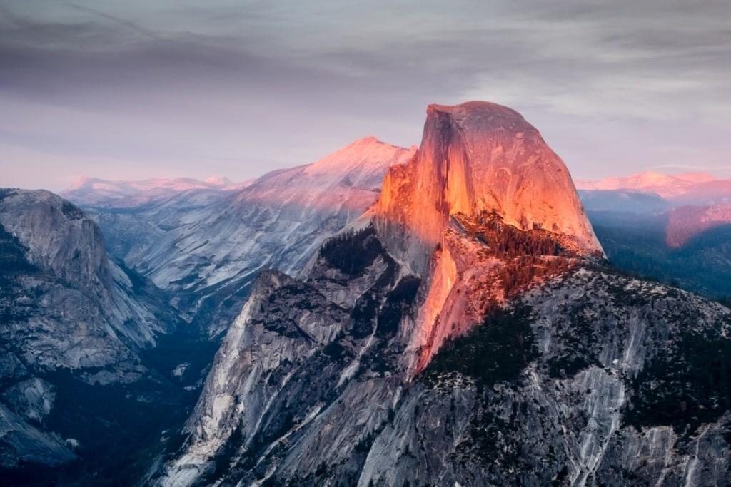 Berge im Yosemite National Park
