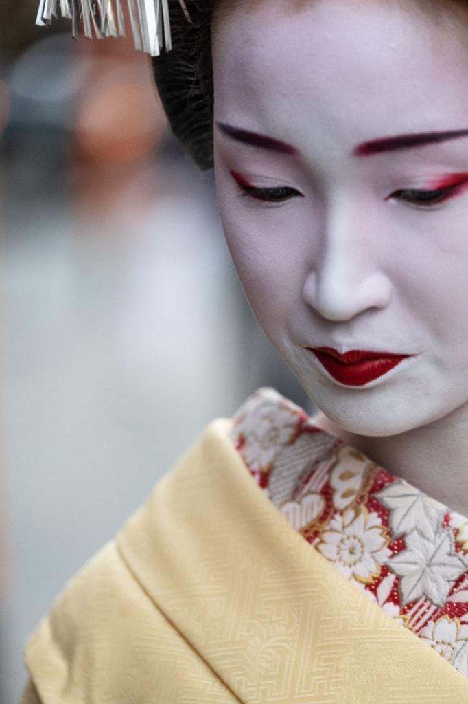 Gesicht einer Geisha