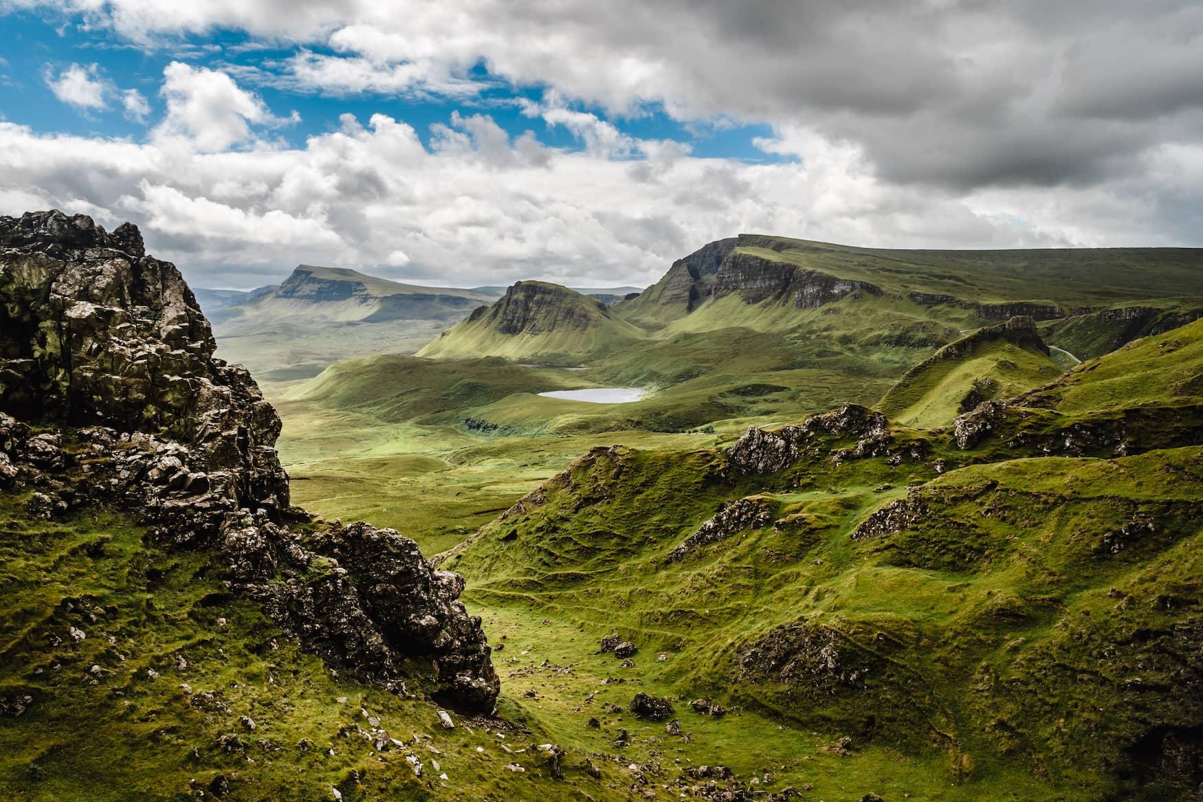 Quiraing Viewpoint auf der schottischen Insel Isle of Skye