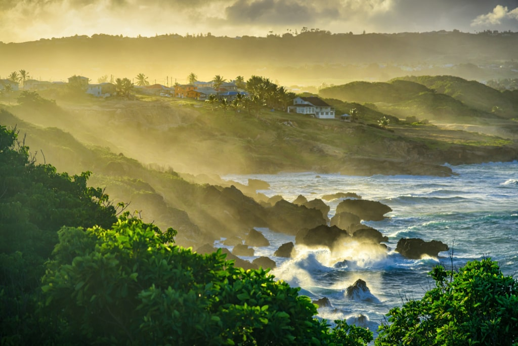 Die Ostküste Barbados ist rau und wild.
