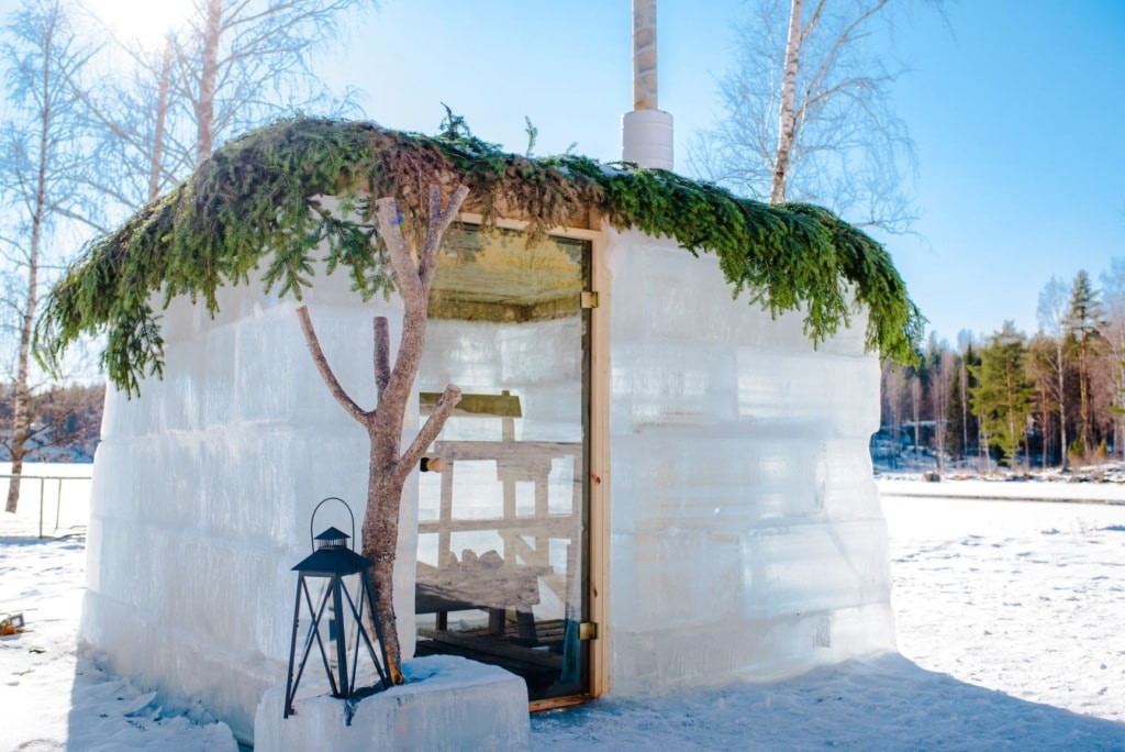 Ice Sauna im Sahanlahti Resort