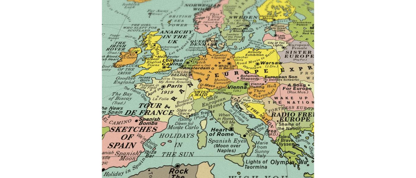 Die Weltkarte von Dorothy zeigt die Welt mit Songtiteln.