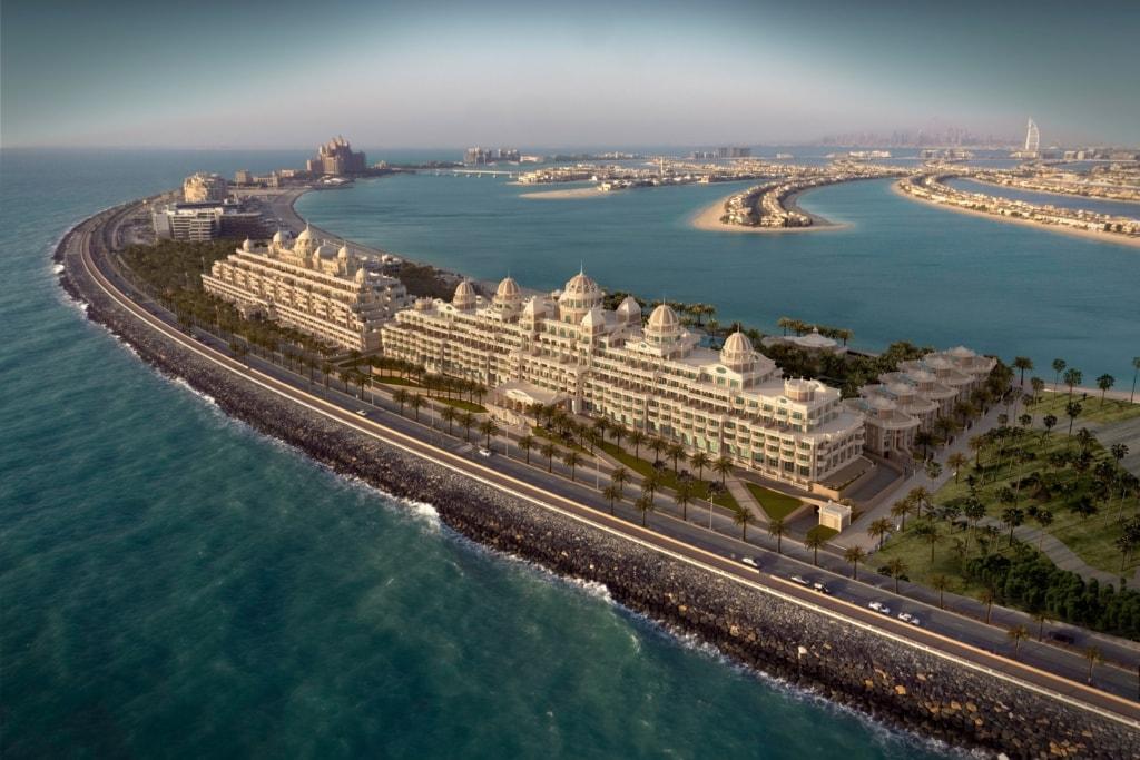 Emerald Palace Kempinski Dubai aus der Vogelperspektive