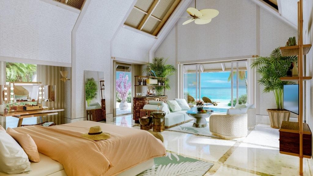 Beach Villa im Joali Maldives