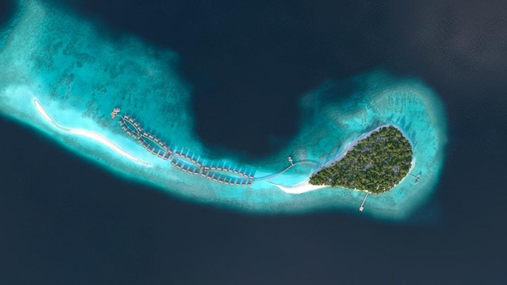 Joali Maldives aus der Vogelperspektive