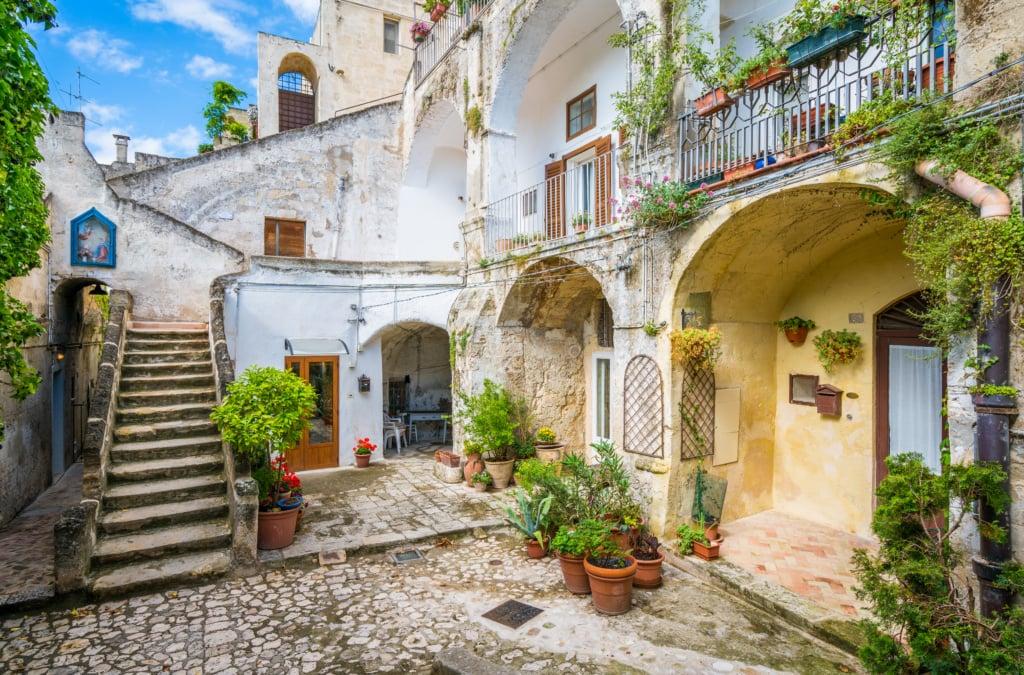 Innenhof in Materna, Italien