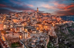 Blick auf Materna, Italien