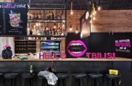 Bar im Moxy Tiflis