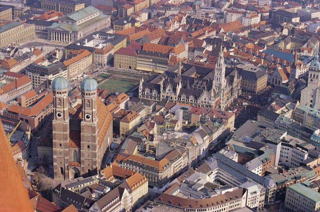 München von oben ist eine Augenweide.