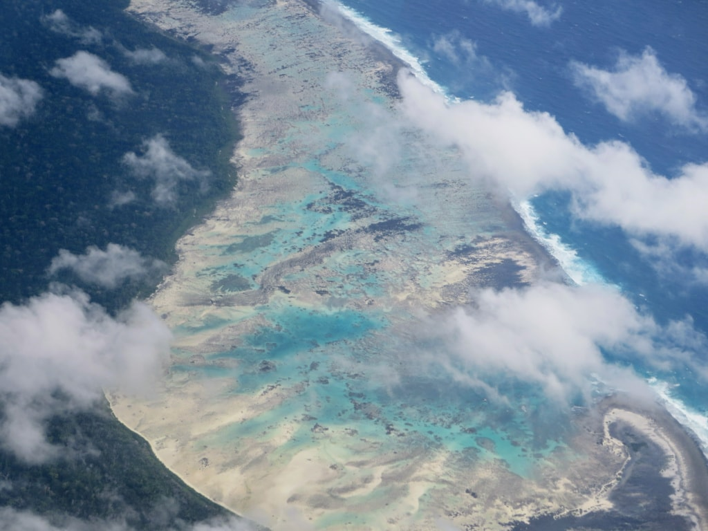 North Sentinel Islands aus der Vogelperspektive
