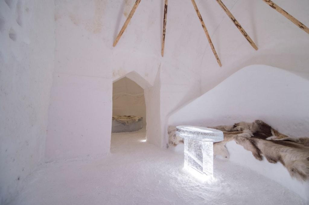 Eishotels: Zimmer im Sorrisniva Igloo Hotel