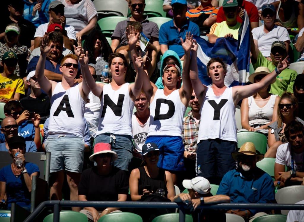 Tennisfans während der Australian Open