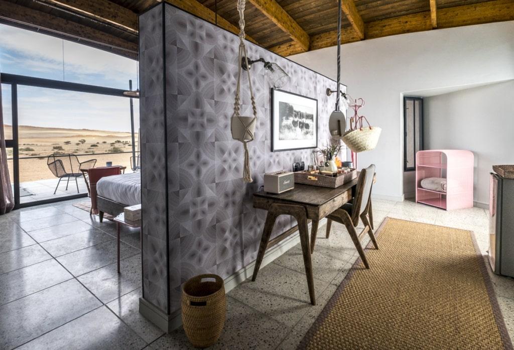 Doppelzimmer im Desert Grace in Namibia
