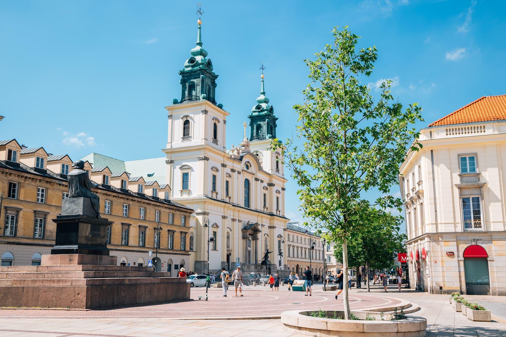Kopernikus-Statue im Stadtzentrum von Warschau