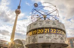 Weltzeituhr in Berlin