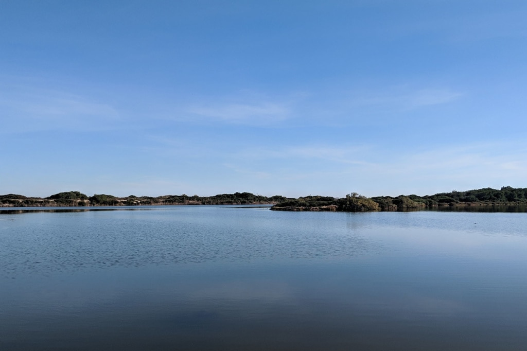 Blick auf die Lagune von Albufera bei Valencia