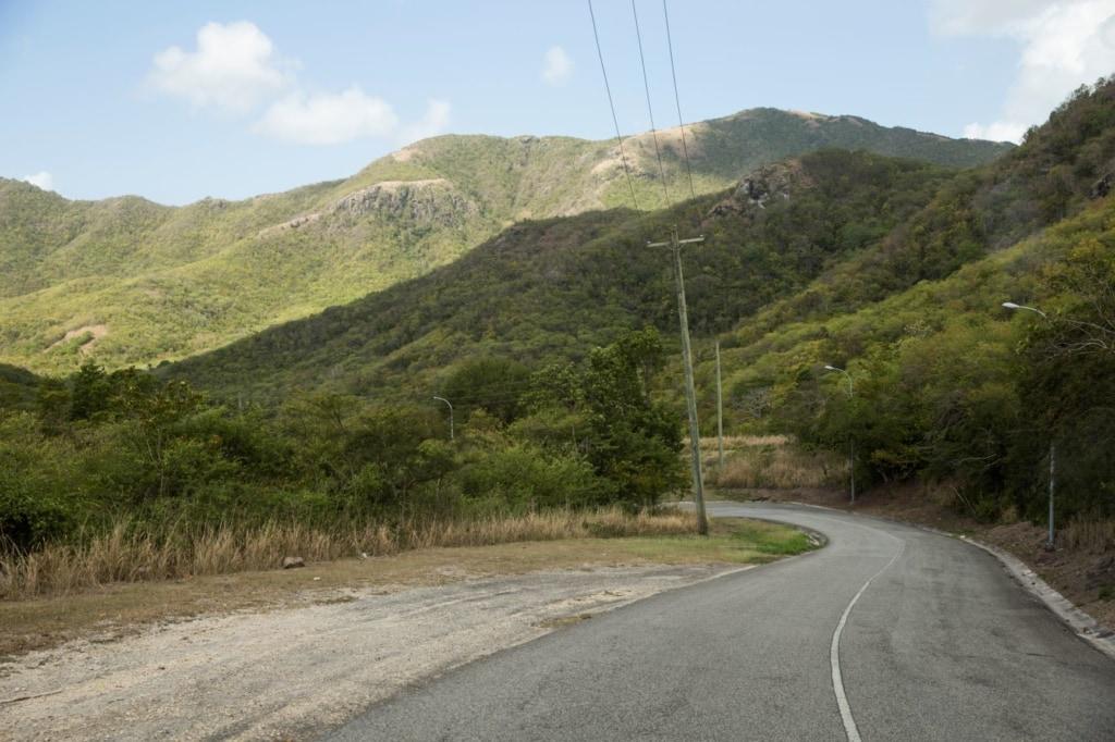 Landstraße in Antigua