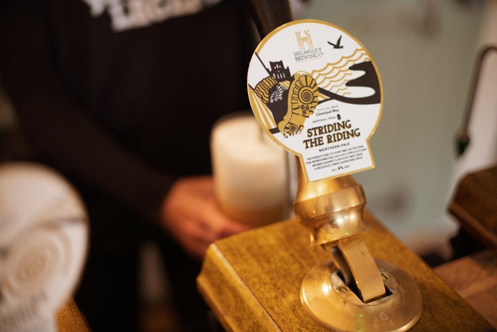 Zapfhahn der Helmsley Brewing Co aus England