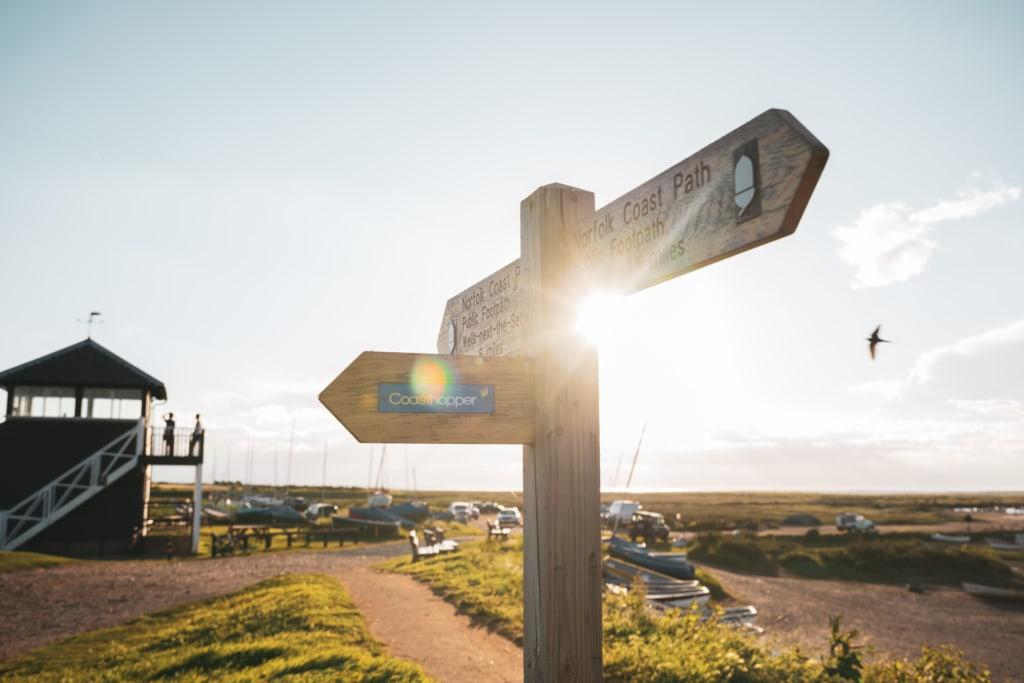 Ein Päuschen ist nie weit auf dem Norfolk Coastt Path.