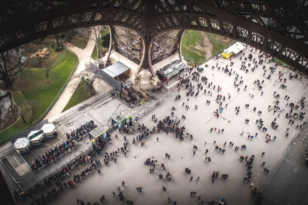 Eiffelturm aus 1. Etage fotografiert