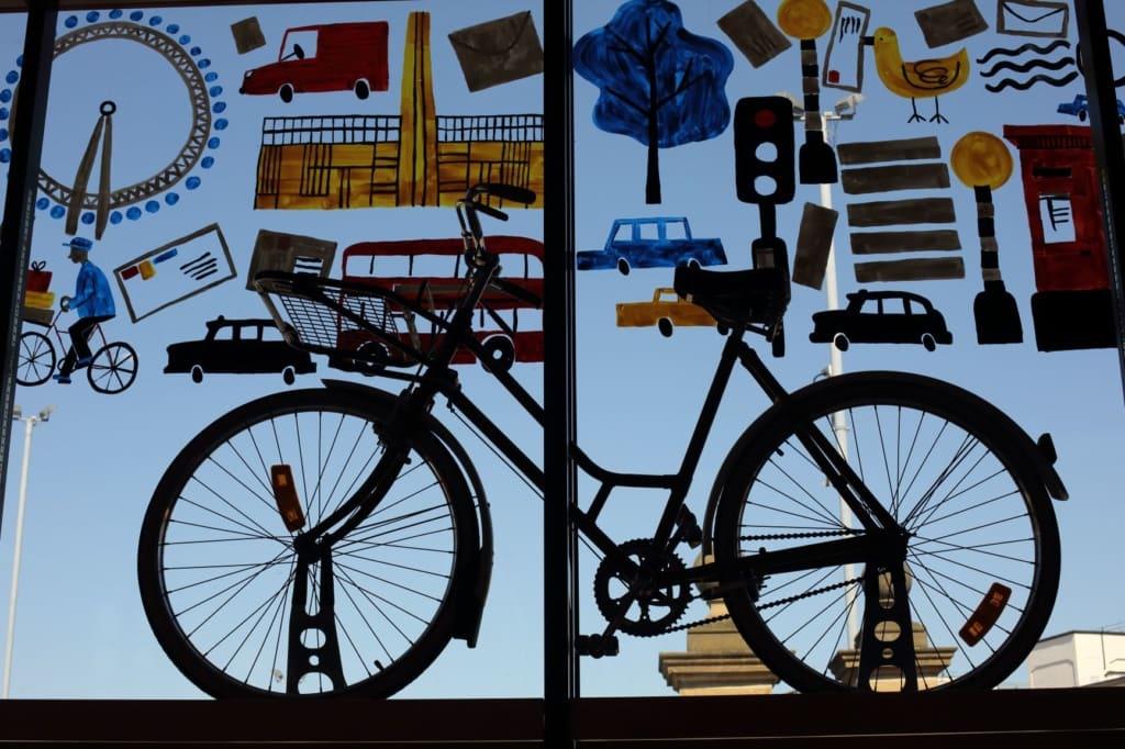 Fahrrad im Postal Museum in London