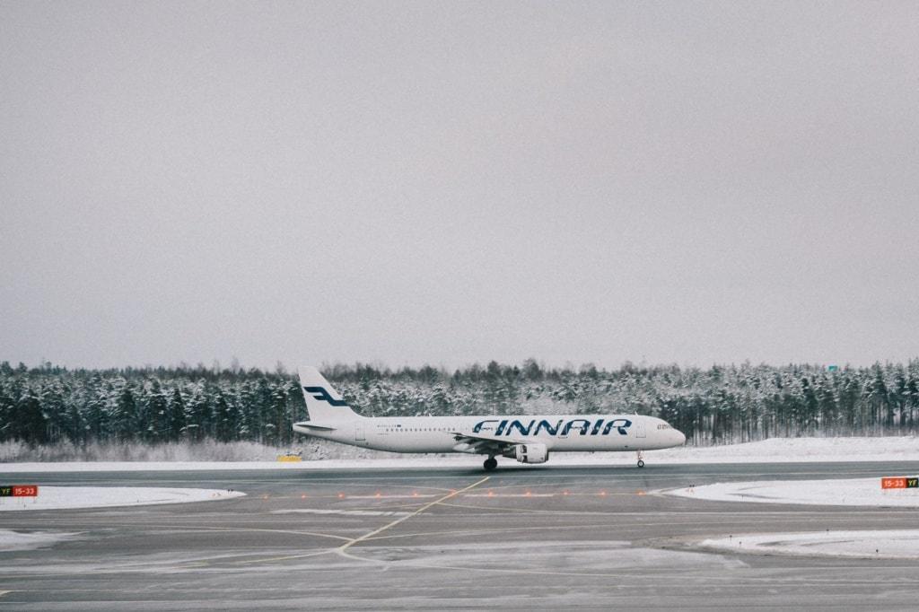 Finnair Flugzeug auf Helsinki Airport