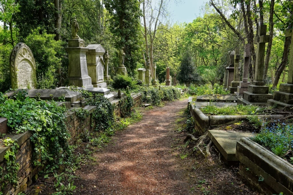 Highgate Cemetry in London
