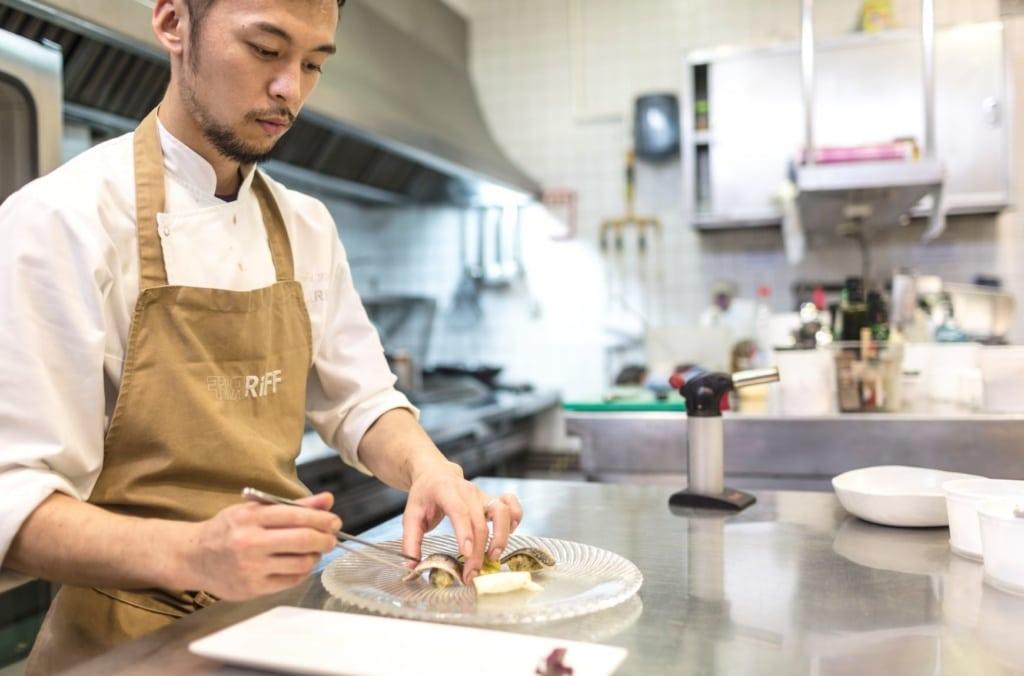 Koch im Riff-Restaurant Valencia