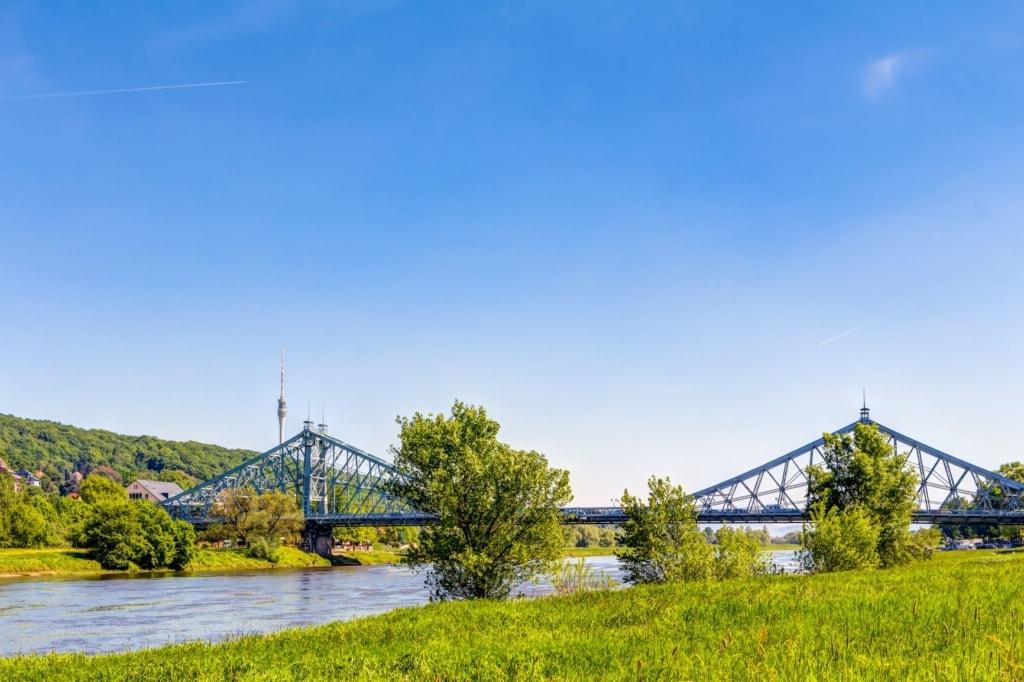 Blaues Wunder, Loschwitzbrücke in Dresden