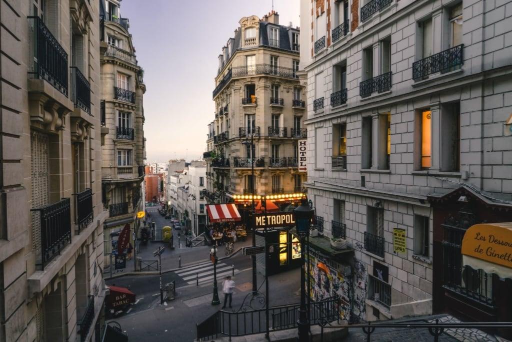 Straßenszene in Montmartre