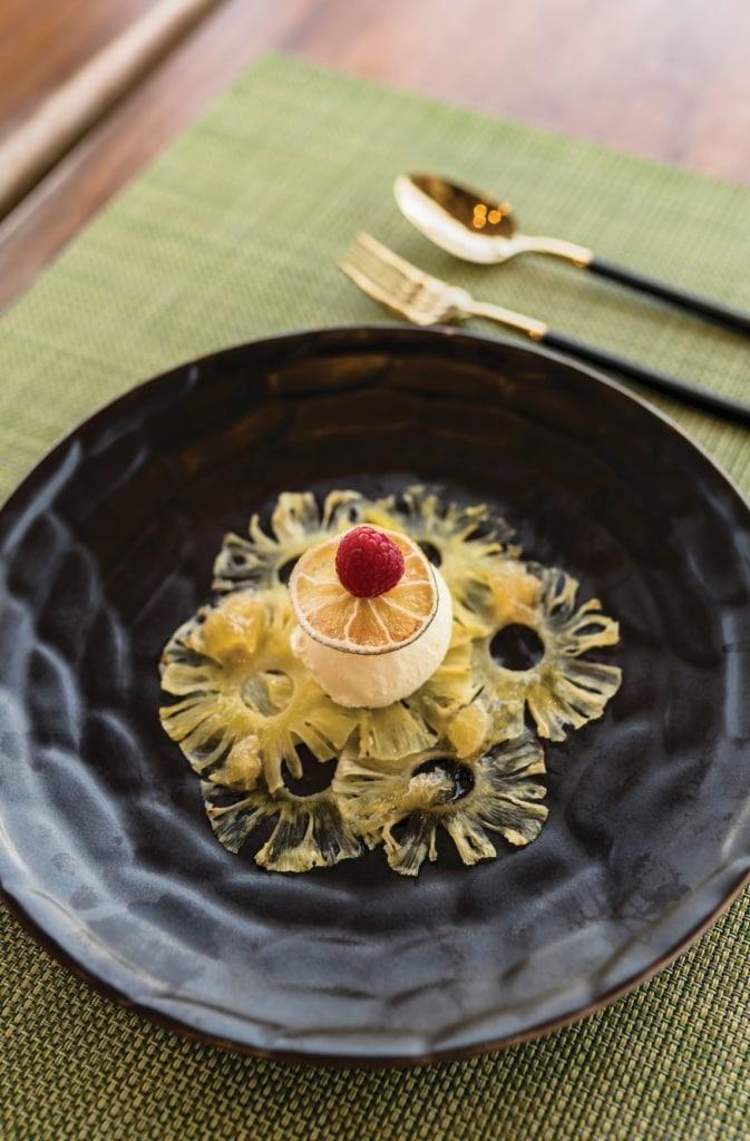 Essen im Restaurant des Oblu Select at Sangeli