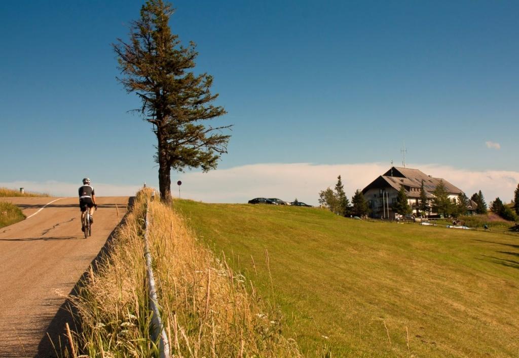 Fahrradfahrer im Schwarzwald