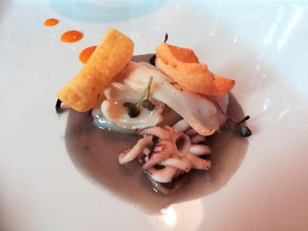 Fischvorspeise im Restaurant Albagatto