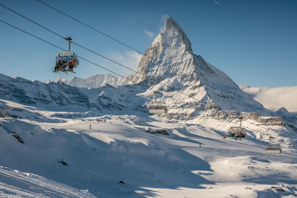 Seilbahn am Matterhorn