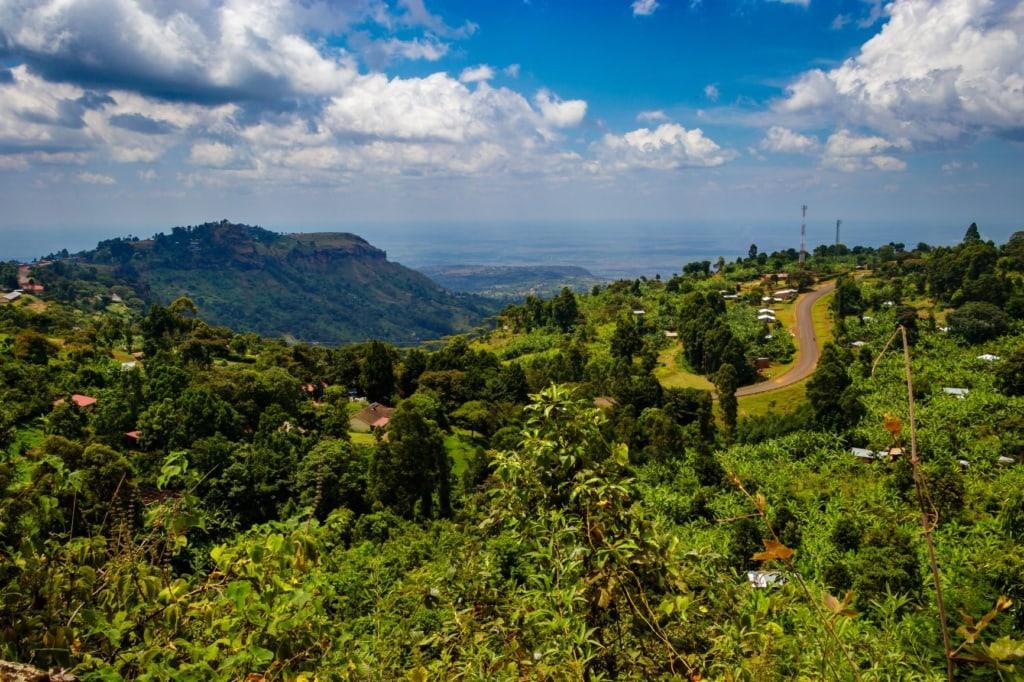 Sipi Falls im Mount Elgon Nationalpark in Uganda
