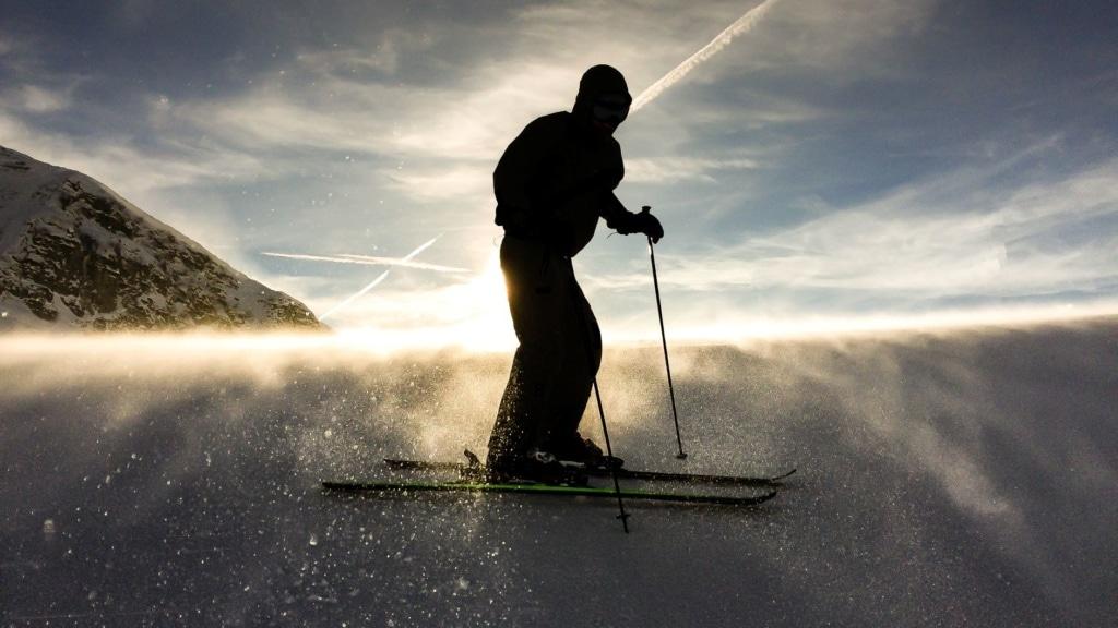 Skifahrer in Frankreich