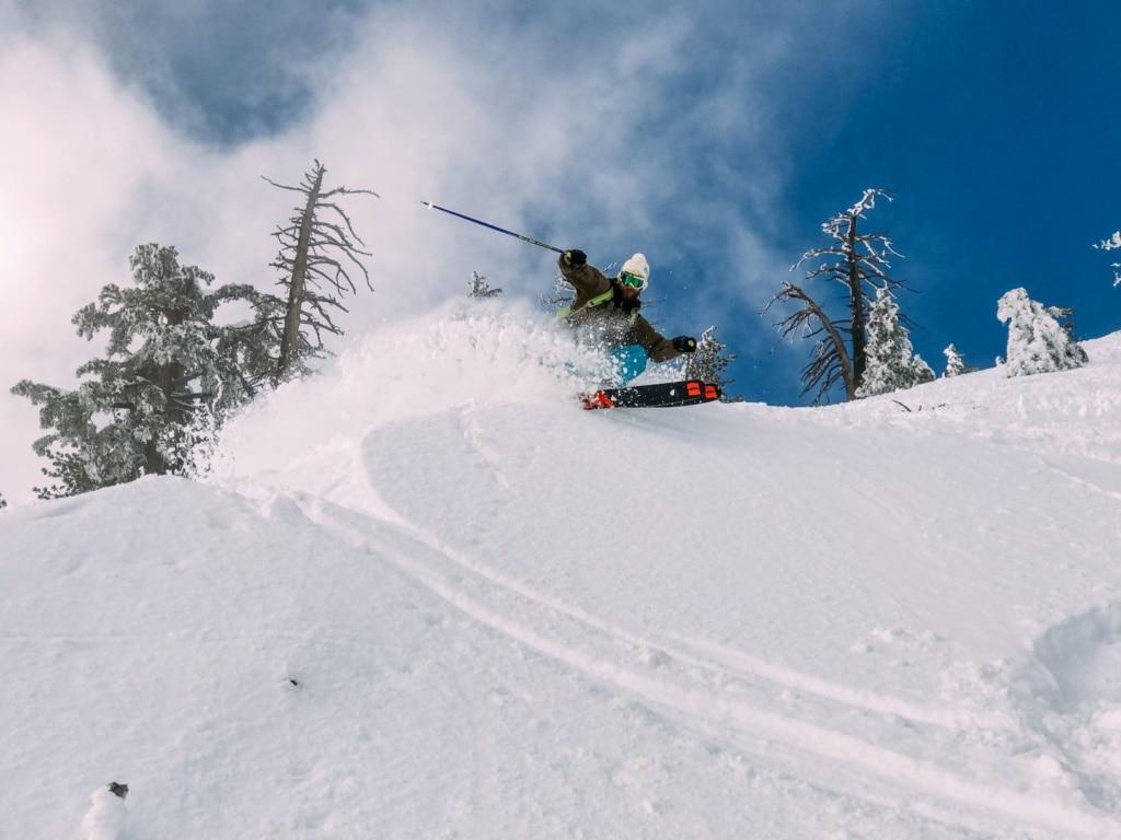 Skifahrer in den USA