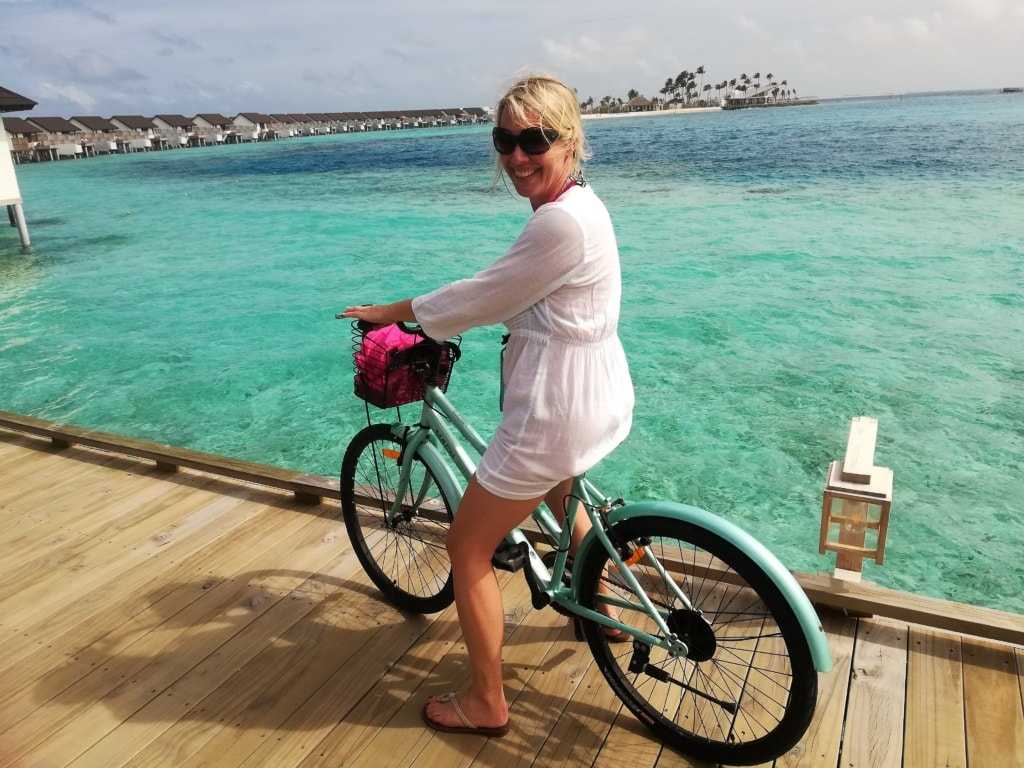 Susanne Wess auf den Malediven