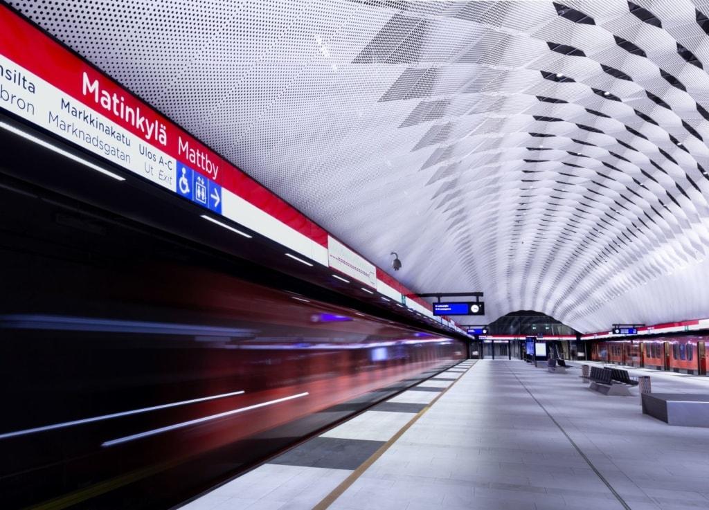 U-Bahn-Station in Helsinki