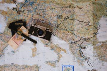 Weltkarte für die Reisevorbereitung