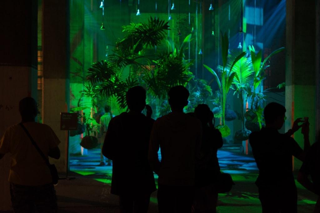 Wenn der Dschungel nachts leuchtet ist man vermutlich beim Porlwi Festival auf Mauritius gelandet.