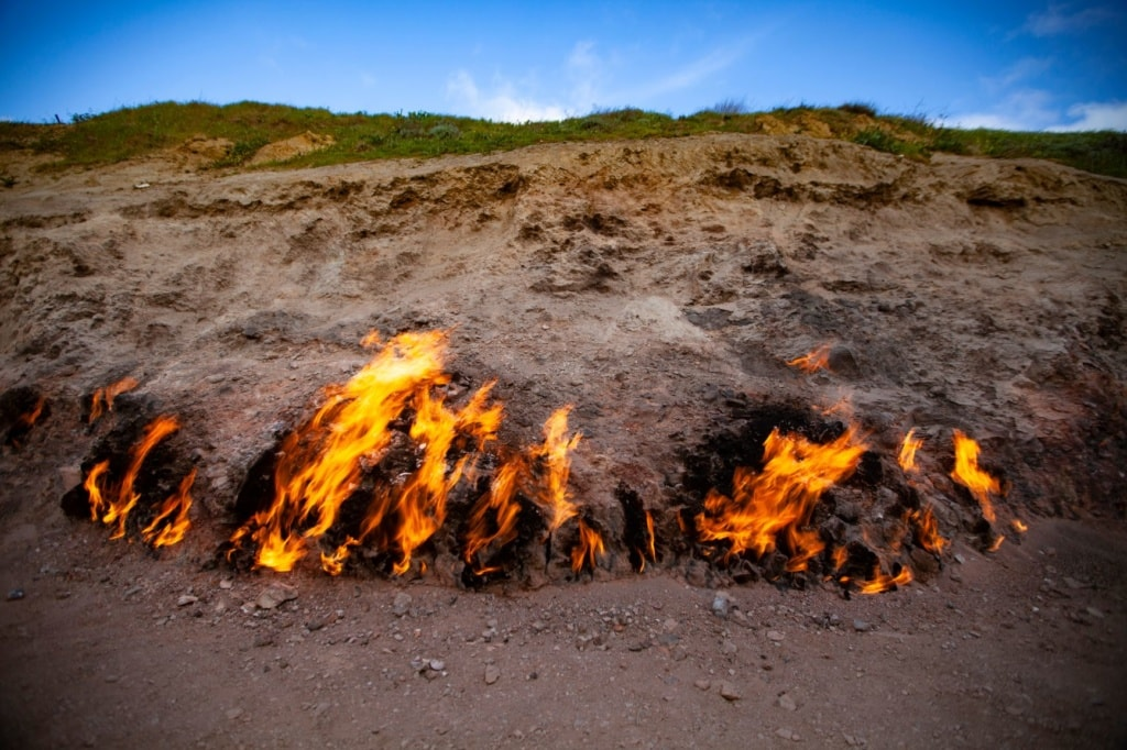 Feuerstelle in Yanar Dag