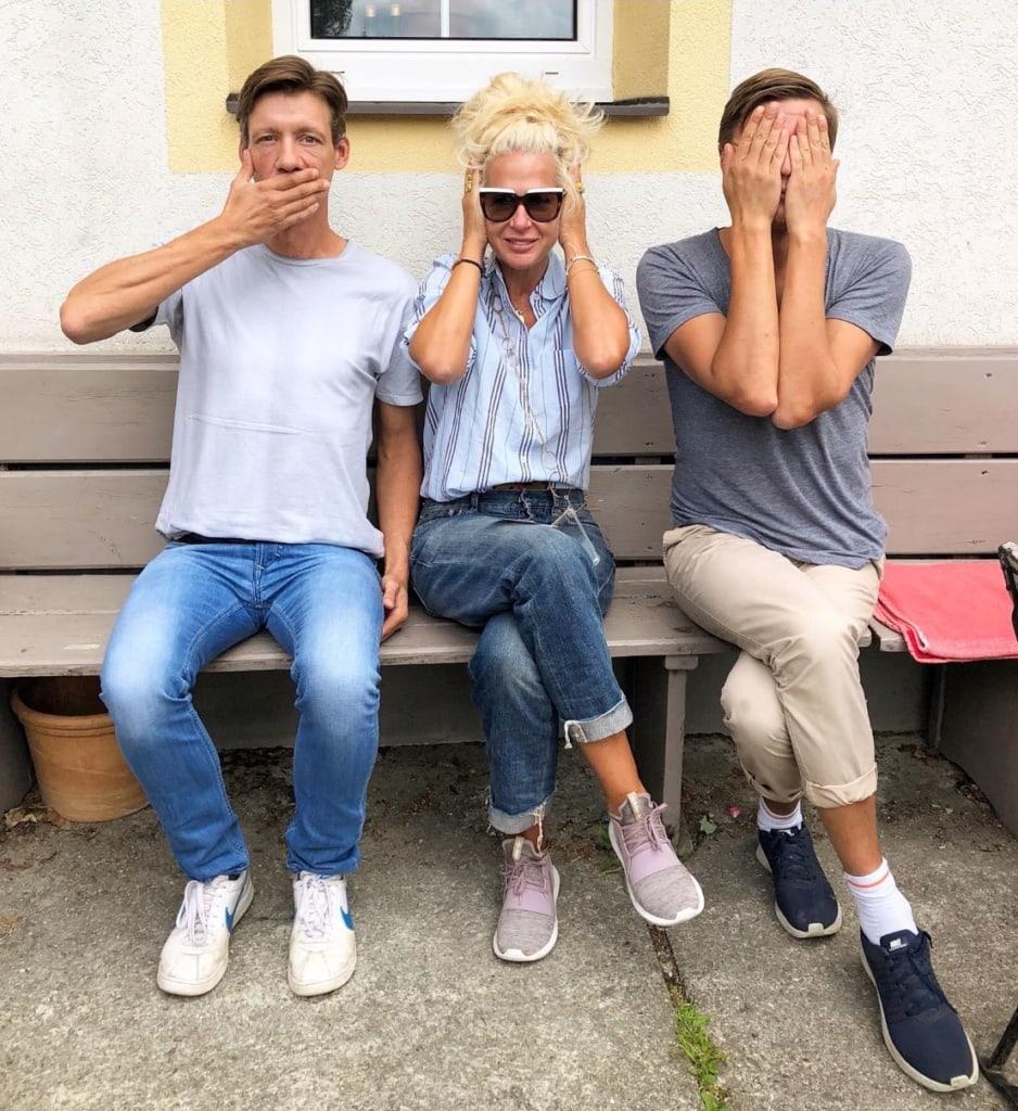 Ala Zander mit Jan und Stefan vom Waldhaus Rudolfshöhe