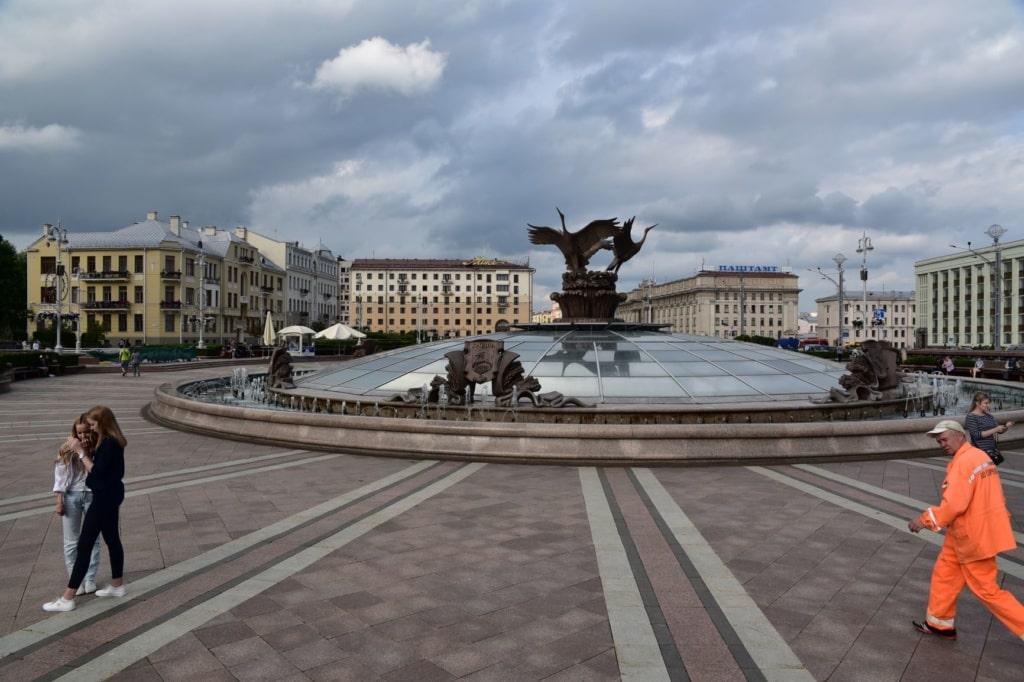 Platz der Unabhängigkeit in Minsk