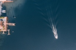 Lago Maggiore aus der Luft